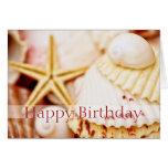 Tarjeta de cumpleaños bonita de los Seashells