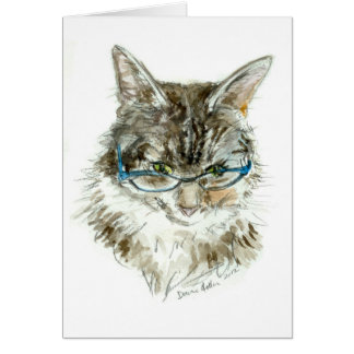 Tarjeta de CUMPLEAÑOS bonita del gatito de YDP