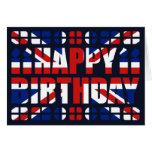 Tarjeta de cumpleaños BRITÁNICA de la bandera