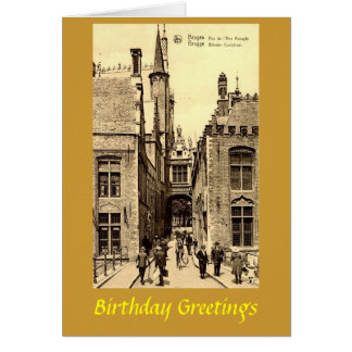 Tarjeta de cumpleaños - Brujas, Bélgica