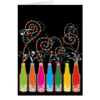 Tarjeta de cumpleaños burbujeante de las tarjeta pequeña