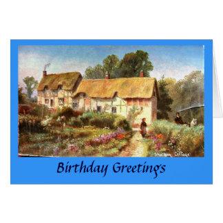 Tarjeta de cumpleaños - cabaña de Anne Hathaway