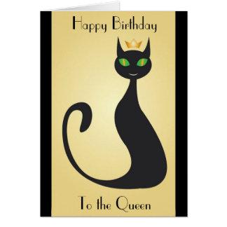 Tarjeta de cumpleaños cabida para una reina