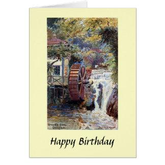 Tarjeta de cumpleaños - cañada de Groudle,