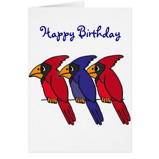 Tarjeta de cumpleaños cardinal AP