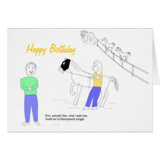 Tarjeta de cumpleaños caseosa de Mascarpone