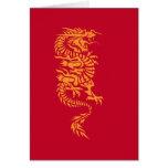 Tarjeta de cumpleaños china del dragón