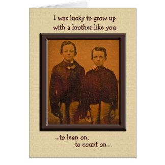 Tarjeta de cumpleaños chistosa de los hermanos