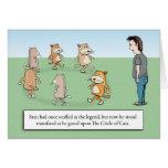 Tarjeta de cumpleaños - círculo de gatos
