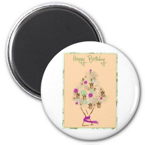 Tarjeta de cumpleaños clásica imán de frigorífico