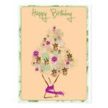 Tarjeta de cumpleaños clásica tarjeta postal
