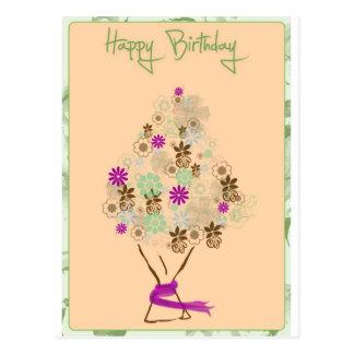 Tarjeta de cumpleaños clásica postal