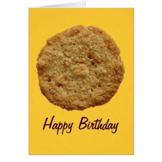 Tarjeta de cumpleaños cocida curruscante del acont