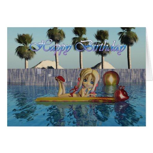 Tarjeta de cumpleaños, colección de la piscina de