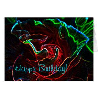 Tarjeta de cumpleaños color de rosa abstracta
