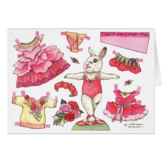 Tarjeta de cumpleaños color de rosa de la muñeca d
