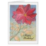 Tarjeta de cumpleaños color de rosa de la plena fl
