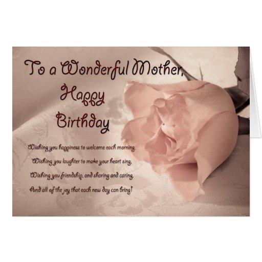 Tarjeta de cumpleaños color de rosa elegante para