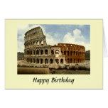 Tarjeta de cumpleaños - Colosseum, Roma