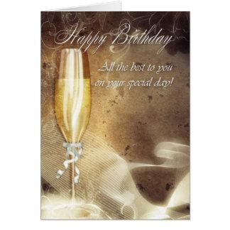 Tarjeta de cumpleaños con clase del negocio - Cham
