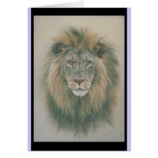 Tarjeta de cumpleaños con el león Picure