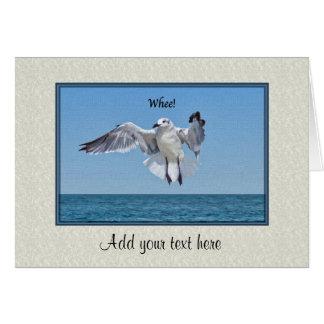 Tarjeta de cumpleaños con el pájaro de la gaviota tarjeta de felicitación