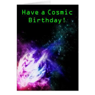 Tarjeta de cumpleaños cósmica
