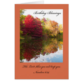 Tarjeta de cumpleaños cristiana -- El señor Bless