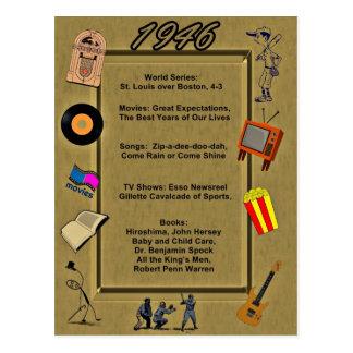 Tarjeta de cumpleaños de 1946 gran acontecimientos tarjeta postal