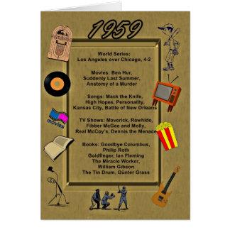 Tarjeta de cumpleaños de 1959 gran acontecimientos
