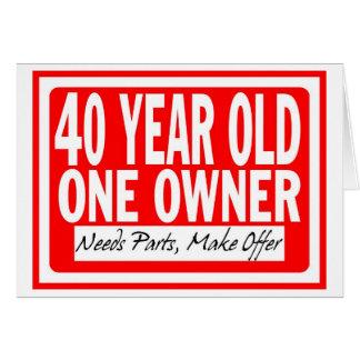 Tarjeta de cumpleaños de 40 años