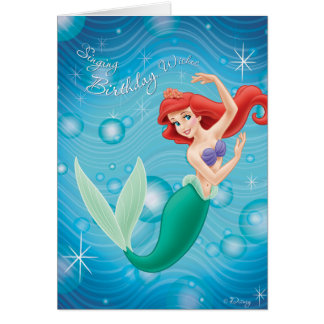 Tarjeta de cumpleaños de Ariel Disney
