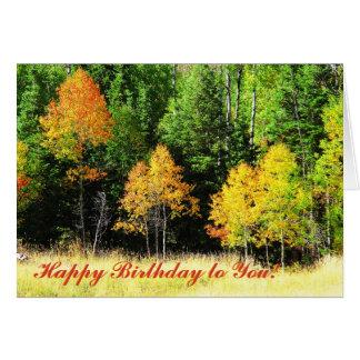 Tarjeta de cumpleaños de Aspen