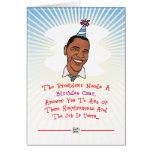 Tarjeta de cumpleaños de Barack Obama