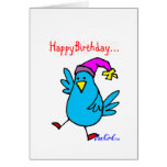 Tarjeta de cumpleaños de Birdy por VanKirk.