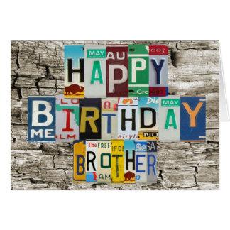 Tarjeta de cumpleaños de Brother de las placas