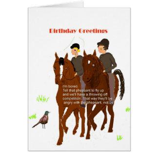 Tarjeta de cumpleaños de caballo