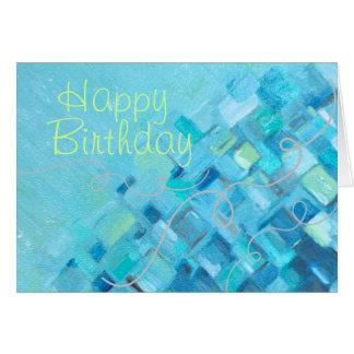 Tarjeta de cumpleaños de cristal de las impresione