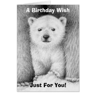 Tarjeta de cumpleaños de Cub del oso polar