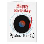 Tarjeta de cumpleaños de DJ