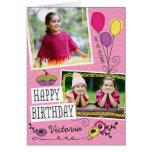 Tarjeta de cumpleaños de encargo de la foto de los