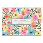 Tarjeta de cumpleaños de encargo de las flores de