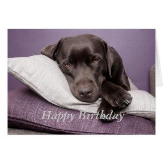 Tarjeta de cumpleaños de encargo del labrador retr
