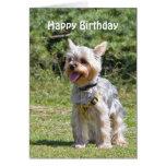 Tarjeta de cumpleaños de encargo del perro de York