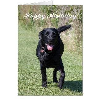 Tarjeta de cumpleaños de encargo del perro negro