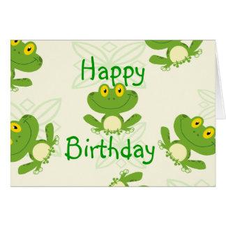 Tarjeta de cumpleaños de Frogies