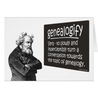 Tarjeta de cumpleaños de Genealogify