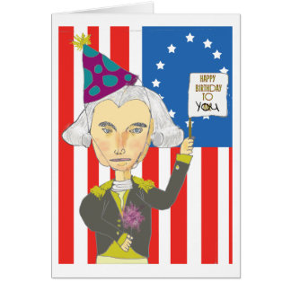 Tarjeta de cumpleaños de George Washington