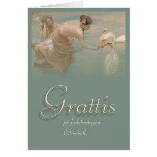 Tarjeta de cumpleaños de Grattis CC0141