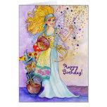 Tarjeta de cumpleaños de hadas del confeti